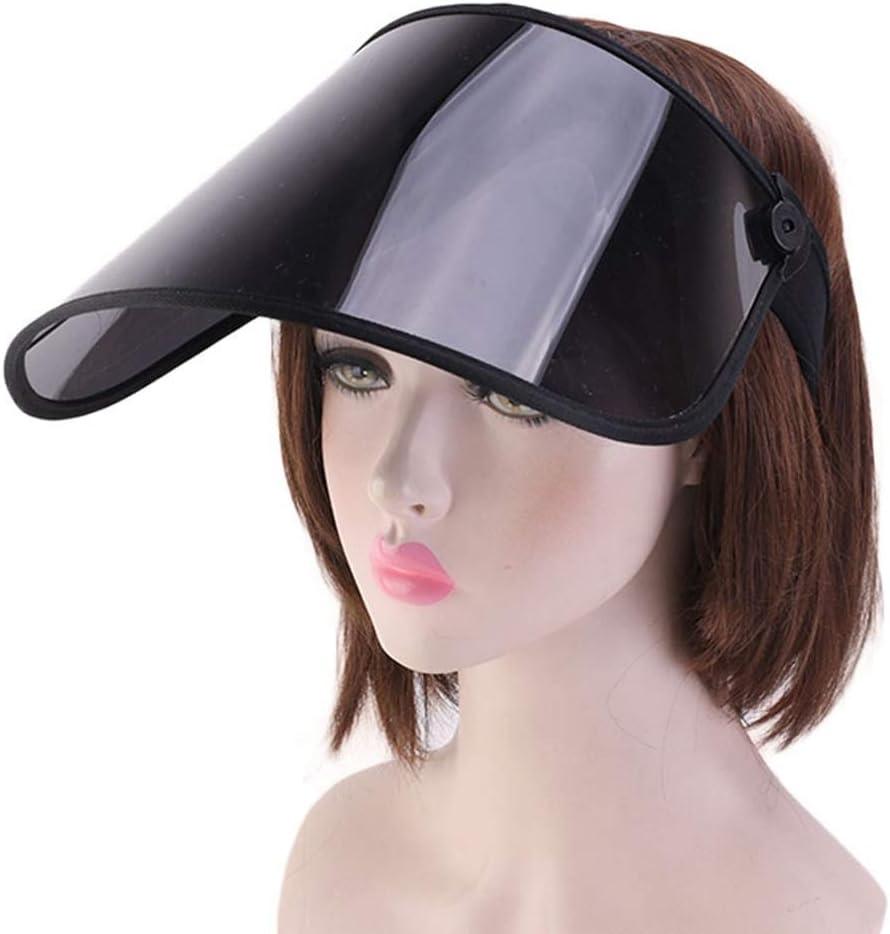 BLACK NOBRAND Protective Visor,Transparent Anti Droplet Dust-Proof Protect Covering Visor Shield