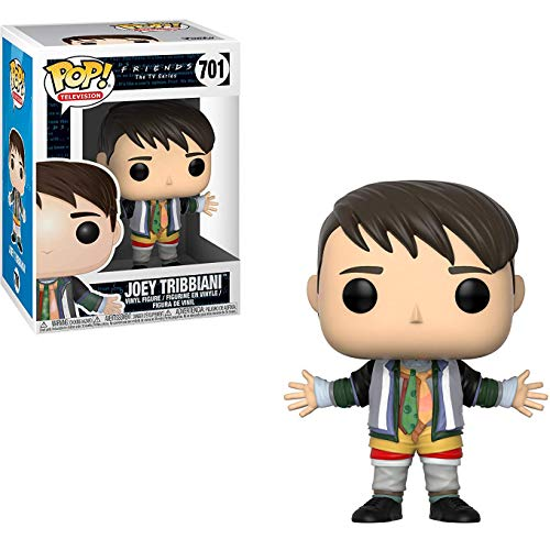 Funko Joey Tribbiani [in Chandler's Clothes]: Friends x POP! TV Vinyl Figure + 1 American TV Themed Trading Card Bundle [#701 / 32745]