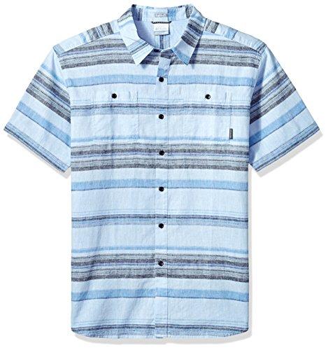 (Columbia Men's Big Southridge Yarn Dye Short Sleeve Shirt, Air Stripe, X-Large Tall)