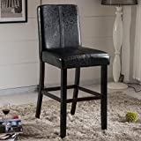 VisionXPro Inc. Luxury Collection Black Faux Leather Barstool 24-inch barstool