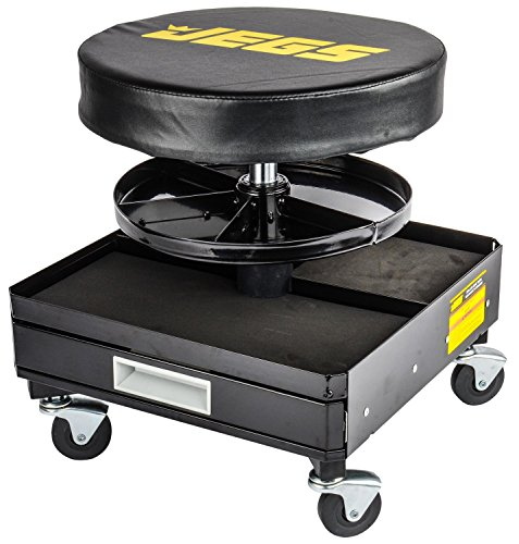 JEGS Performance Products 81157 Mechanic Padded Seat Height: 16 to 21 by JEGS