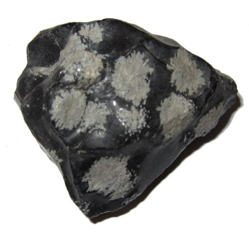 (Obsidian Cluster Snowflake 01 Raw Natural Crystal Extreme Protection Stone Black Grey 2.5