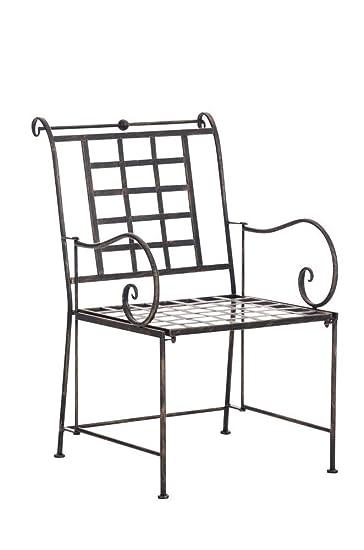 Sikalo Nostalgie Metallstuhl Für Garten Und Wintergarten Robust Und