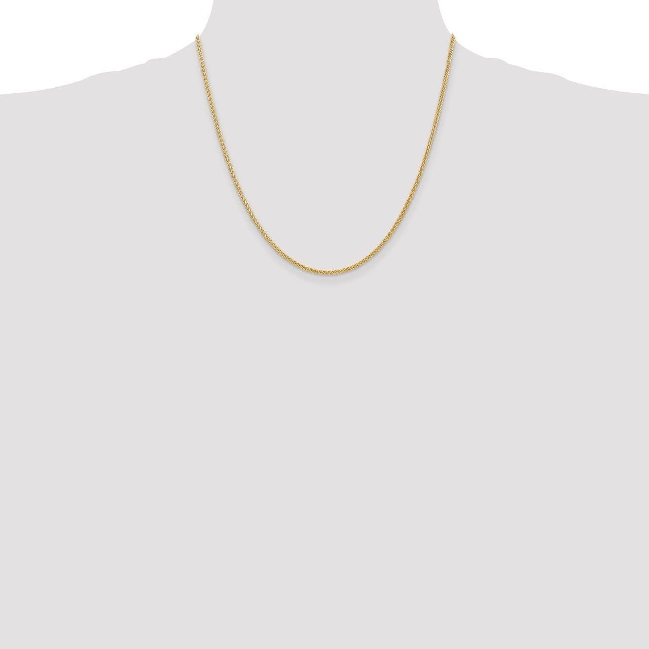 Lex /& Lu 14k Yellow Gold 2.00mm Light Wheat Chain Necklace or Anklet