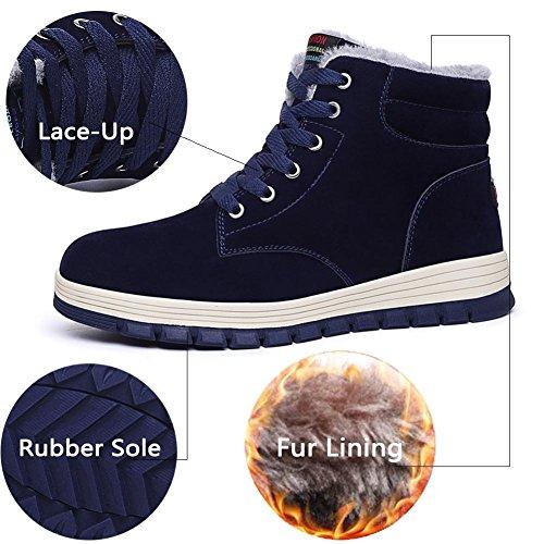 Winter Snow Boots Sneaker Men Blue Outdoor Fur Top Quickshark Shoes Snow Lining High Boots Slip Non Waterproof fpcI7q