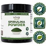 Viva Naturals Spirulina Powder: California-Grown, Non-GMO, Non-Irradiated and Pesticide-Free — The FINEST Green