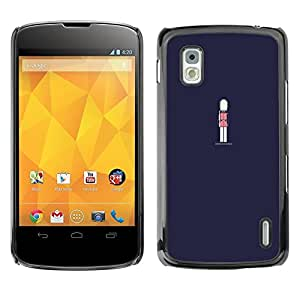 Be Good Phone Accessory // Dura Cáscara cubierta Protectora Caso Carcasa Funda de Protección para LG Google Nexus 4 E960 // Navy Blue Guard Royal
