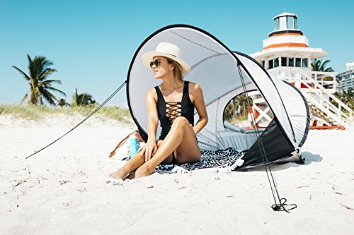 InstaPalm Portable Pop Up Cabana Beach Tent and Sun Shelter - Portable Sun Shelter