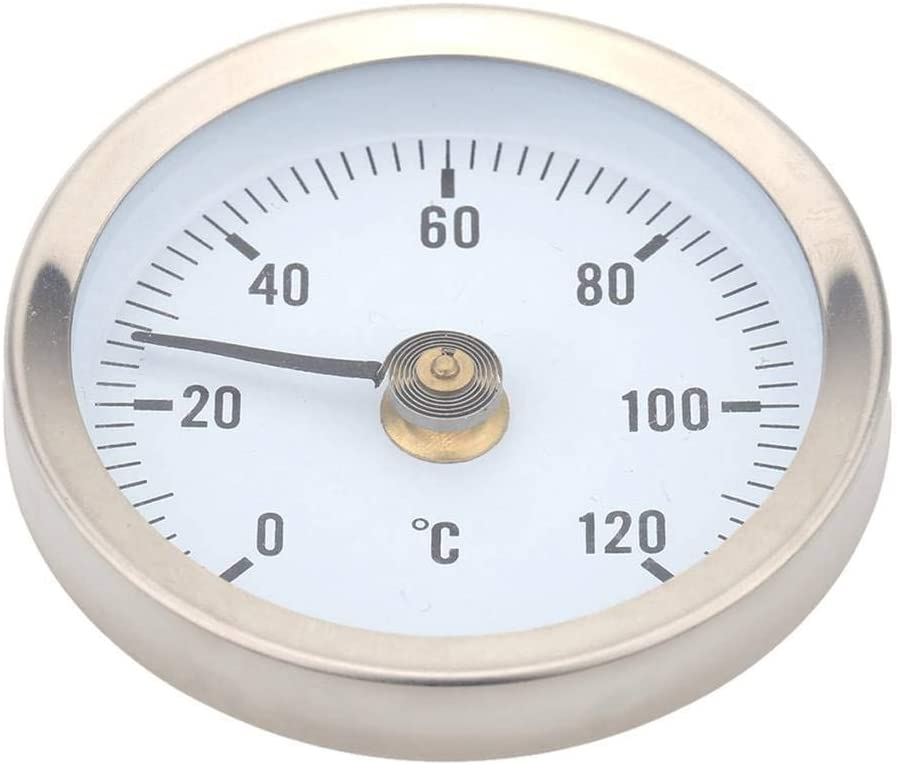 censhaorme Riscaldamento Acqua Calda del Tubo 120 /° in Acciaio Inox Termometro bimetallico Tubo di Temperatura Impermeabile 63 Millimetri Dial Temp Gauge