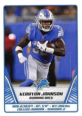 save off cc45d 180a9 Amazon.com: 2019 Panini NFL Sticker #372 Kerryon Johnson ...
