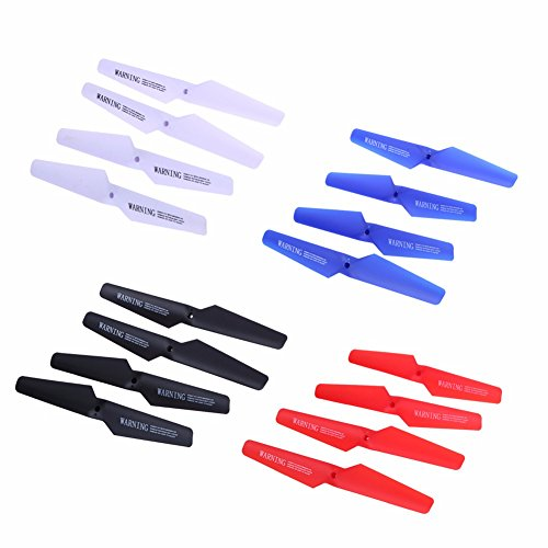 Props Propellers, TechCode four Colors Syma X5 X5C X5C-1 X5SC X5SW Spare Parts Main Blade Props Propellers for Syma X5 Series RC Mini Quadcopter Toy