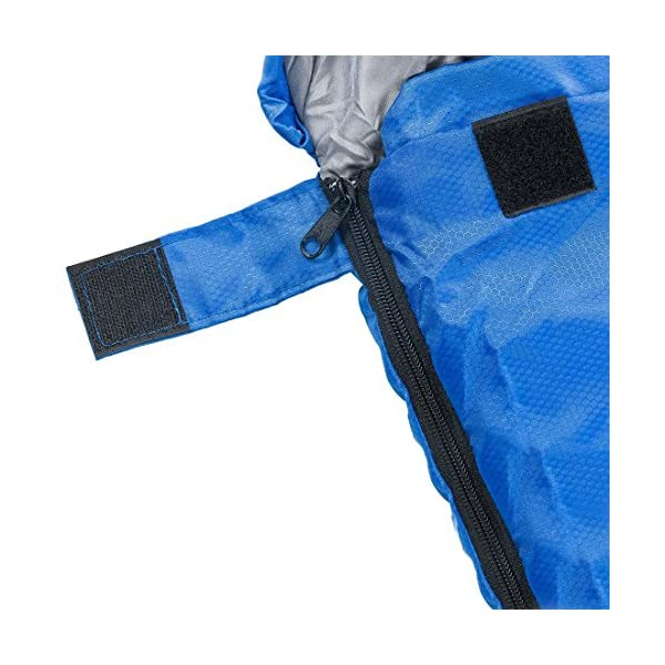 Sleeping Bag Envelope Lightweight Portable Waterproof Comfort With Compression Sack Great For 4 Season Traveling Camping Hiking Outdoor Activities Boys SINGLE By Abco Tech