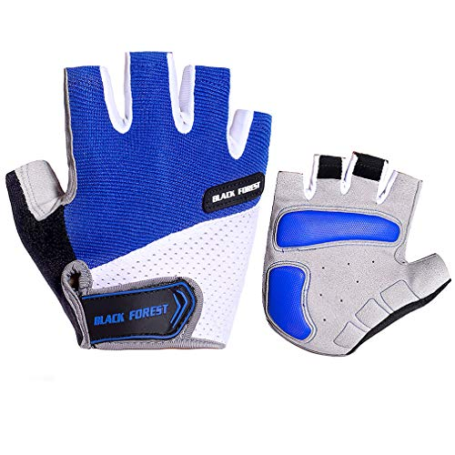 QNLYCZY Cycling Gloves Men's/Women's Mountain Bike Gloves Half Finger Biking Gloves | Anti-Slip Shock-Absorbing Gel Pad Breathable Cycle Gloves (Best Autumn Cycling Gloves)