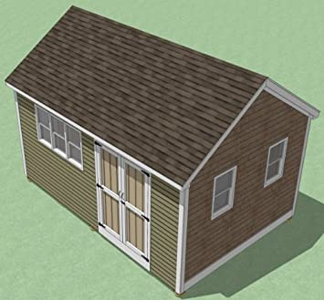 12x18 Shed Plans   How To Build Guide   Step By Step   Garden / Utility