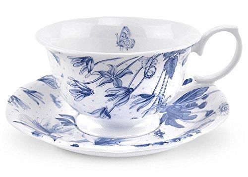 Botanic Blue Teacup and Saucer Set