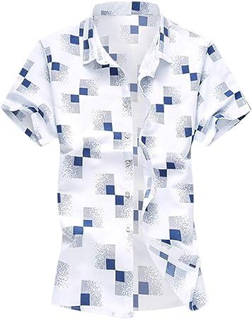 Camisa de manga corta para hombre DDUPNMONE Business Pur ...