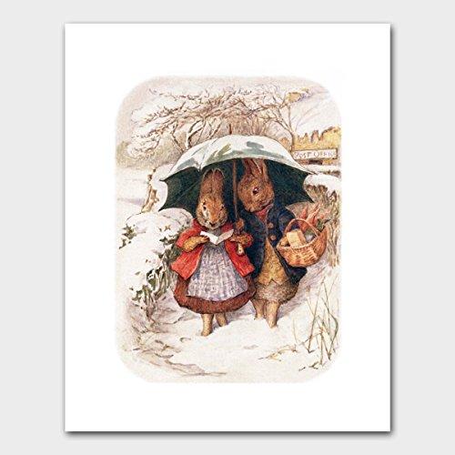 Peter Rabbit Art, Woodland Wall Decor (Nursery Print, Beatrix Potter)