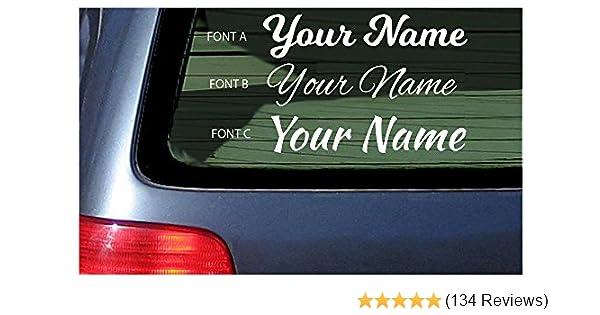 9ed2907ea13 Amazon.com: Your Name Customized Vinyl Cut Decal Personalized Sticker  Window Laptop Tumbler Cursive Handwritten Look Custom Nickname Decals:  Automotive