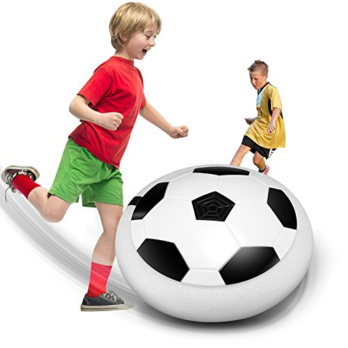 (Binglinghua Kids Toys Training Football With Parents Game Children Toys Air Power Soccer Disk Indoor Outdoor Hover Ball Game with LED Lights)