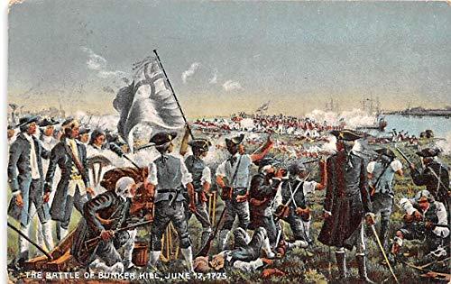 Colonial Post Card Old Vintage Antique Postcard Battle of Bunker Hill, June 17, 1775 1915 (June 17 1775 Battle Of Bunker Hill)