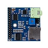 Qupida MP3 Voice Module SD/TF Voice Broadcast Trigger Player + Speaker F MCU SCM UI