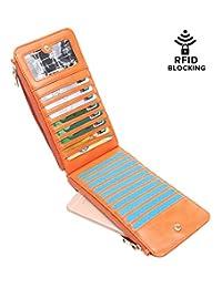 Aitbags RFID Blocking Women Bifold Multi Card Organizer Wallet Card Case Holder