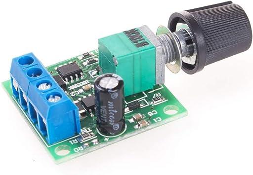 Angeek Pwm Motor Drehzahlsteller Modul Niederspannung Dc 1 8v 12v 2a Motor Speed Controller Auto