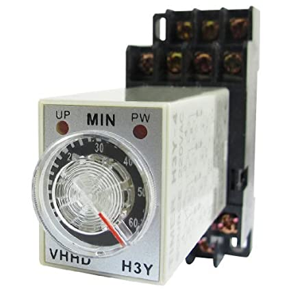 Timing eDealMax H3Y-4 Indicador LED de encendido Relay 4PDT 14 Pin 0-60m