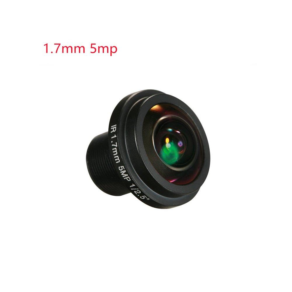 Yohii 1.7mm/0.06 Inch Fisheye Lens HD 5.0 Megapixel BL17820-5MP For CCTV IP Camera 180 Degree Wide Angle Panoramic CCTV Camera Lens