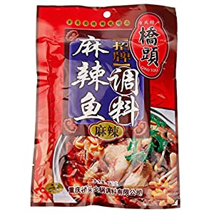 Helen Ou@chongqing Specialty: Qiaotou Spicy Fish Condiment or Sauce or or Hotpot Seasoning 180g/6.35oz/0.40lb
