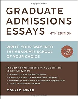 How to write a good admissions essay for graduate school