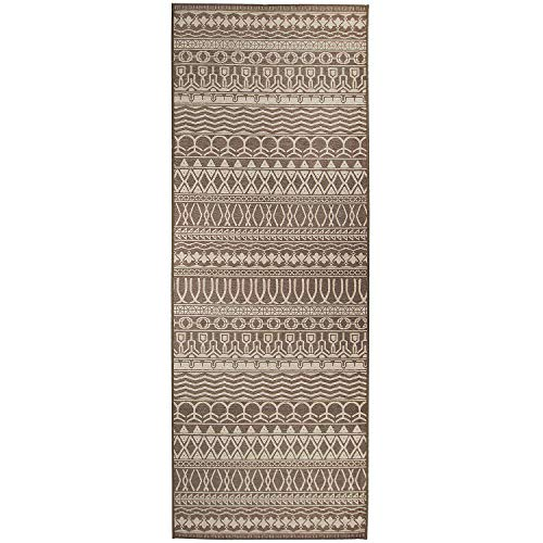 Rug Espresso - RUGGABLE Washable Stain Resistant Pet Dog Runner Rug for Indoor/Outdoor - Cadiz Espresso 2.5' x 7' Runner Rug Set