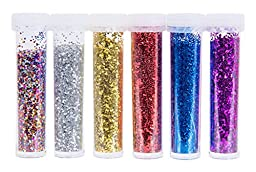 RoseArt Glitter Shakers 6-Count Assorted Sparkling Colors Packaging May Vary (CXR52)