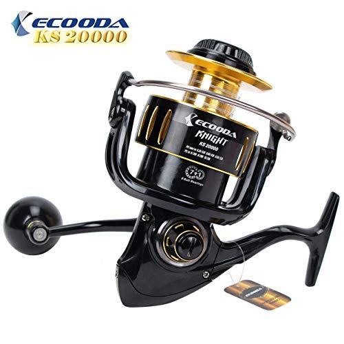 Ecooda 2018 Knight Heavy Duty Metal Spinning Jigging Fishing Reels Saltwater Waterproof Body Boat Trolling Fishing Reel KS12000 20000