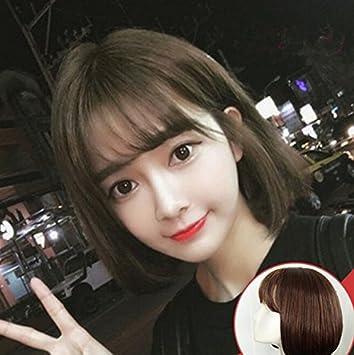 Amazon Com Miss Korea 2018 Net Red Wig Short Hair Straight Hair