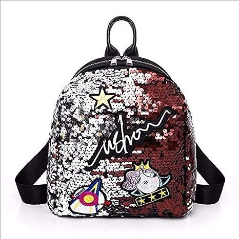 OneMoreT Mini mochila con lentejuelas y bonitas mochilas bordadas para mujeres y niñas, mochila brillante para la escuela, rosa: Amazon.es: Instrumentos ...