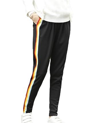 Pantalón de chándal de Moda para Mujer Jeggings Estampado a Rayas ...
