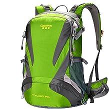 Suspension air carrying backpacks/Waterproof wear camping hiking outdoor Pack-green 40L