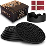 Barvivo Drink Coasters with Holder Set of 8