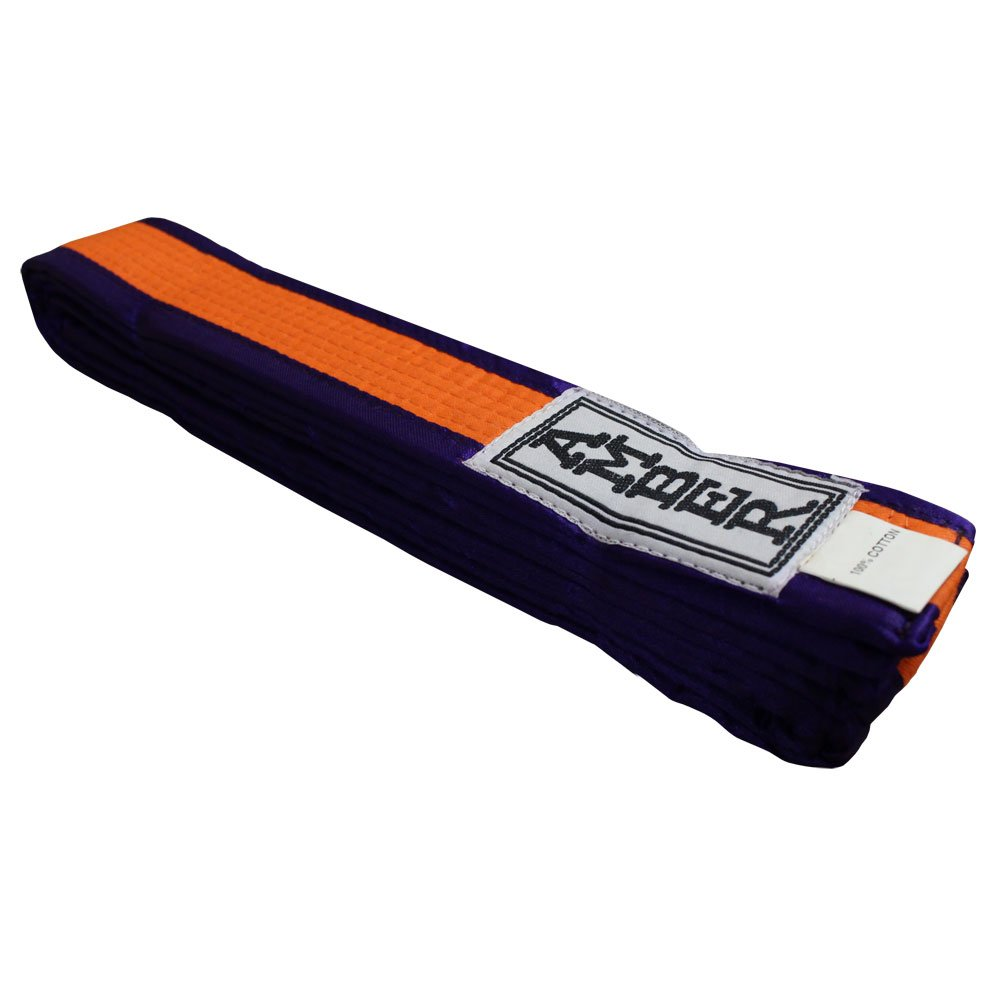 Amber Fight Gear Karate Belt Purple/Orange Size 0 by Amber Fight Gear