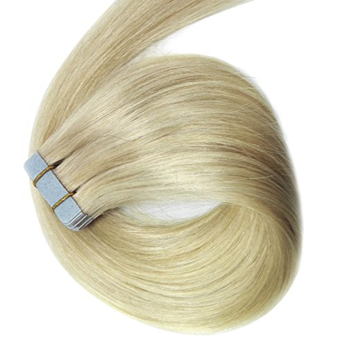 Hot sale 2017 myfashionhair tape in human hair extensions 22inches hot sale 2017 myfashionhair tape in human hair extensions 22inches platinum blonde 20pcs 60g set silky pmusecretfo Choice Image