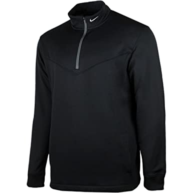 dbc9f376 Amazon.com: Nike Golf Mens Therma Fit Half Zip Pullover Shirt Black Small:  Clothing