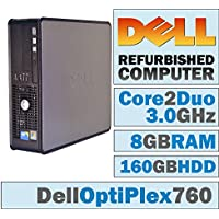 Dell OptiPlex/Core 2 Duo E8400 3.00 GHz/New 8GB RAM / 160GB HDD/DVD-RW/No OS-(Certified Reconditioned).
