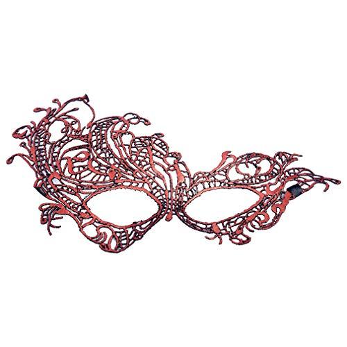 SEIKEA Halloween Masquerade Masks Red -
