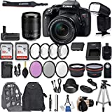 Canon EOS Rebel T7i DSLR Camera with EF-S 18-135mm f/3.5-5.6 IS STM Lens + 2Pcs 32GB Sandisk SD Memory + Automatic Flash + Battery Grip + Filter & Macro Kits + Backpack + 50' Tripod + More