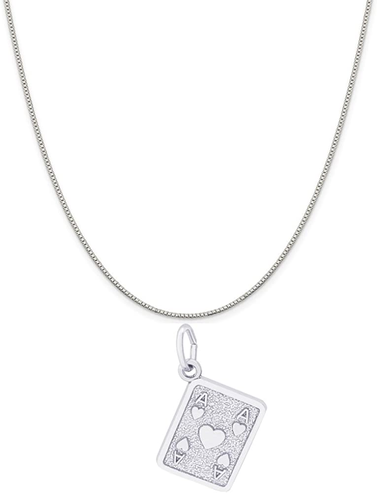 Sterling Silver Womens 1mm Box Chain 3D 80s Retro Style Phone Pendant Necklace