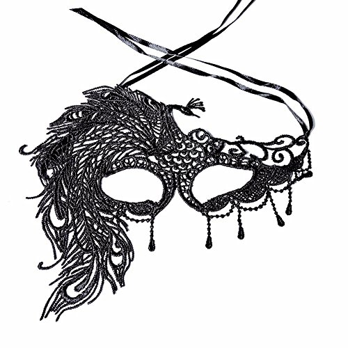 l Guard Screen Domino False Front Women's Sexy Lace mask Theme Dance Party Accessories ()