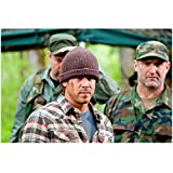 Leverage (2008 - 2012) 8x10 Inch Photo Christian Kane Plaid Shirt & Knit Hat w/Camo Clad Men Behind Him Pose 2 kn