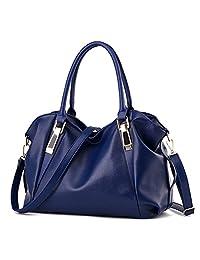 Hynbase Women Fashion Leather Crossbody Top Handle Tote Shoulder Handbag
