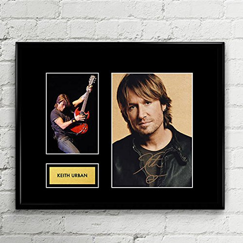 Keith Urban Signed Autographed Photo Mat Custom Framed 11 x 14 Replica Reprint Rp (Pictures Of Keith Urban)